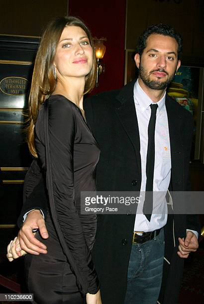 Guy Oseary and guest during The Life Aquatic with Steve Zissou New York City Premiere Inside Arrivals at Ziegfield Theater in New York City New York...