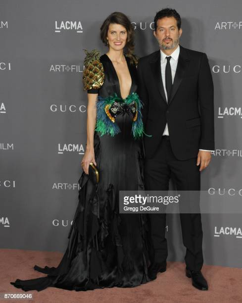Guy Oseary and Michelle Alves arrive at the 2017 LACMA Art Film Gala honoring Mark Bradford and George Lucas at LACMA on November 4 2017 in Los...