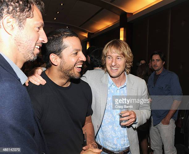 Guy Oseary David Blaine Owen Wilson and Luke Wilson attend the special screening of NO ESCAPE with Owen Wilson Lake Bell and Pierce Brosnan at Dolby...
