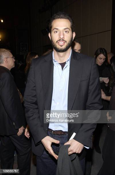 Guy Oseary during Mercedes Benz Fashion Week Fall 2003 Collections Zac Posen Front Row at Four Seasons Restaurant in New York City New York United...