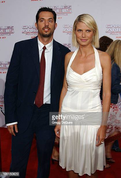 """Guy Oseary & Heidi Klum during """"Charlie's Angels 2 - Full Throttle"""" Premiere at Mann's Chinese Theater in Hollywood, California, United States."""
