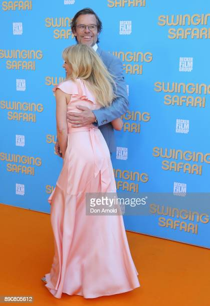 Guy Pearce and Kylie Minogue attend the world premiere of Swinging Safari on December 12 2017 in Sydney Australia