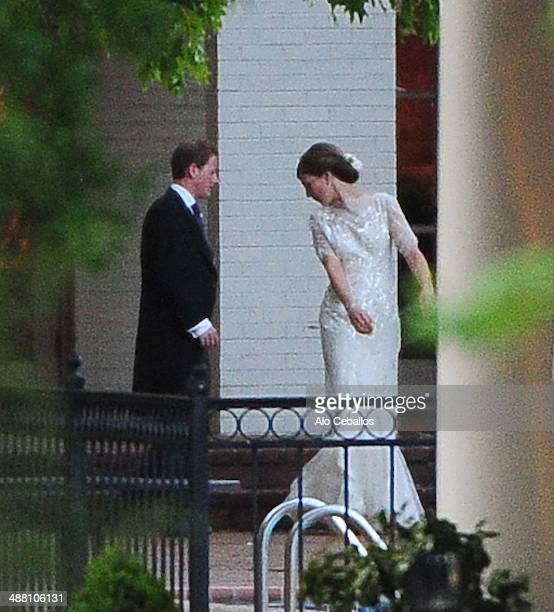 Guy Pelley and Lizzy Wilson are seen on May 3 2014 in Memphis Tennessee Prince William and Prince Harry are in town for the wedding of their friend...