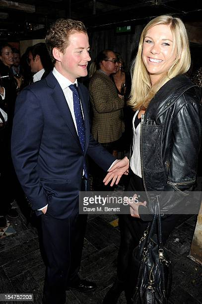 Guy Pelly and Chelsy Davy attend the launch of Tonteria Mexican Bar and Restaurant on Sloane Square on October 25 2012 in London England