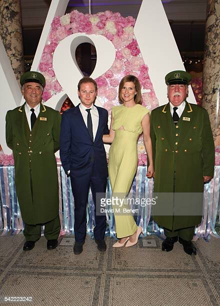 Guy Pelly and Elizabeth Wilson attend the 2016 VA Summer Party In Partnership with Harrods at The VA on June 22 2016 in London England