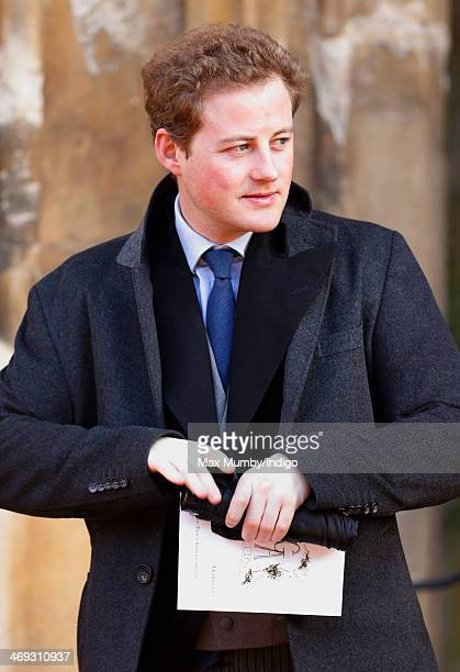 Guy Pelly attends the wedding of Arabella Musgrave and George GalliersPratt at St Paul's Church Knightsbridge on February 8 2014 in London England