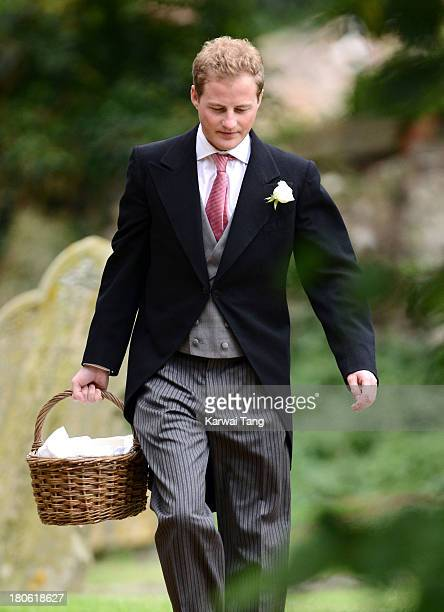 Guy Pelly attends the wedding of James Meade and Lady Laura Marsham at The Parish Church of St Nicholas Gayton on September 14 2013 in King's Lynn...