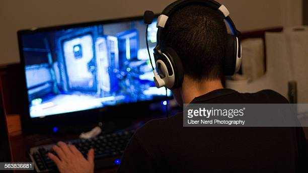 Guy playing video games