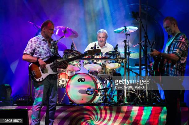 Guy Pratt Nick Mason and Gary Kemp from Nick Mason' s Saucerful of Secrets perform at L'Olympia on September 10 2018 in Paris France