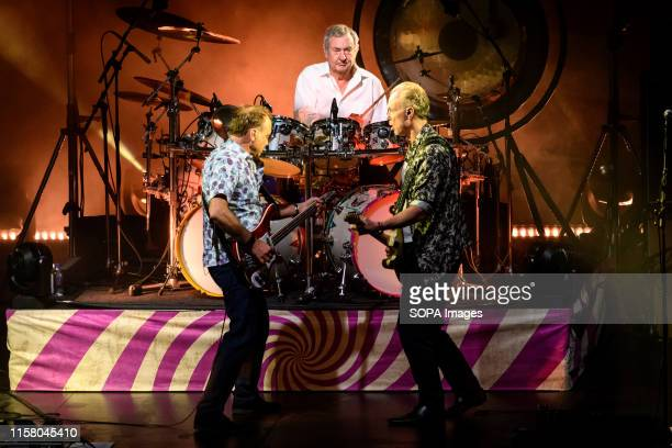 Guy Pratt, Nick Mason former drummer with 'Pink Floyd' and Gary Kemp former guitarist with 'Spandau Ballet' perform with Nick Masons Saucerful of...