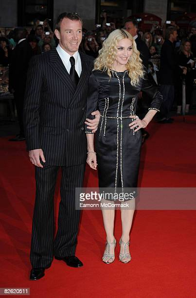 """Guy Richie and Madonna attend the world premiere of """"RocknRolla"""" at Odeon West End on September 1, 2008 in London, England."""