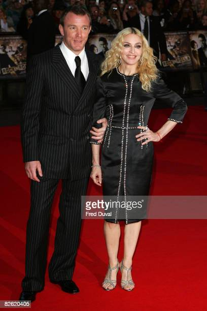 Guy Richie and Madonna attend the World Premiere of RocknRolla at the Odeon West End on September 1 2008 in London England