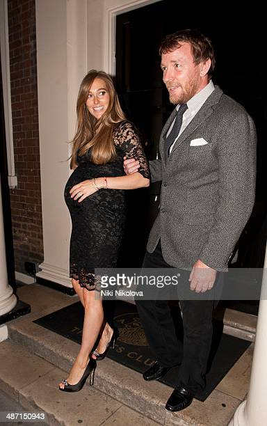 Guy Ritchie and Jacqui Ainsley are seen leaving the Arts Club Mayfair on April 27 2014 in London England