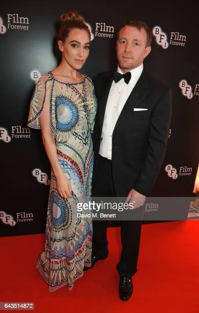 Guy Ritchie and Jacqui Ainsley attend the annual BFI Chairman's Dinner honouring Peter Morgan with the BFI Fellowship at Claridge's Hotel on February...