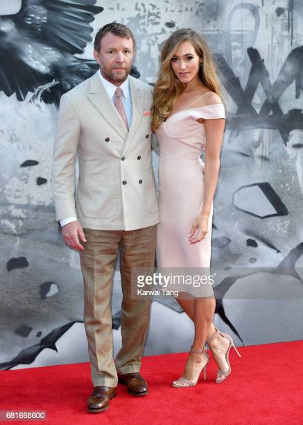 Guy Ritchie and Jacqui Ainsley attend the European premiere of 'King Arthur Legend of the Sword' at Cineworld Empire on May 10 2017 in London United...