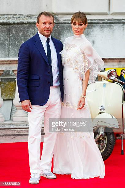 Guy Ritchie and Jacqui Ainsley attend the people's premiere of 'The Man From UNCLE' during Film4 Summer Screenings at Somerset House on August 7 2015...