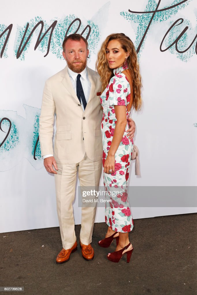 Guy Ritchie (L) and Jacqui Ainsley attend The Serpentine Galleries Summer Party at The Serpentine Gallery on June 28, 2017 in London, England.