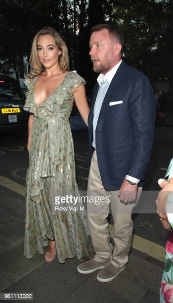 Guy Ritchie and Jacqui Ainsley seen attending Annabel's x Dior dinner to celebrate the RHS Chelsea Flower Show on May 21 2018 in London England