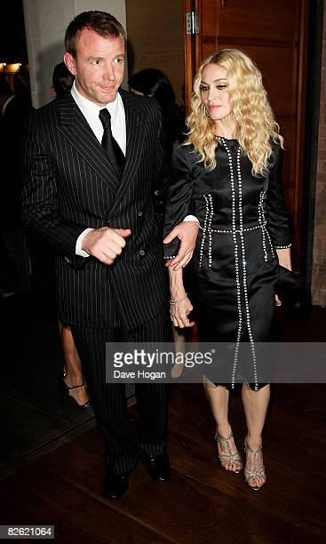 Guy Ritchie and Madonna arrive at the UK premiere afterparty of 'RocknRolla' on September 1 2008 in London England