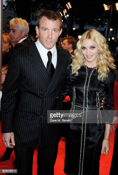 Guy Ritchie and Madonna arrive at the world film premiere of 'RocknRolla' at Odeon West End on September 1 2008 in London England