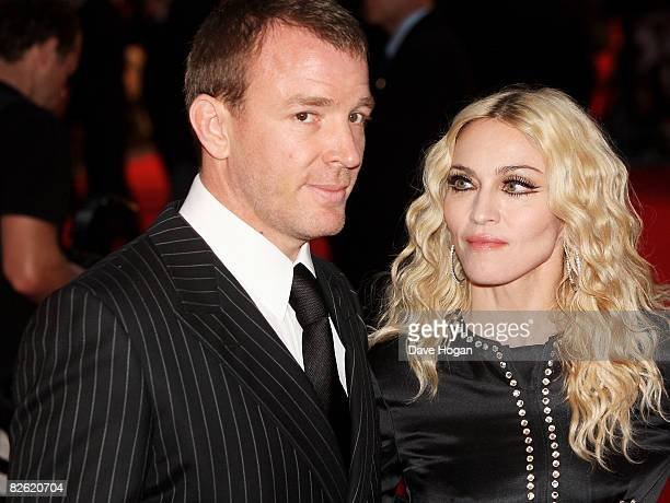 Guy Ritchie and Madonna arrive at the world premiere of 'RocknRolla' at the Odeon cinema Leicester Square on September 1 2008 in London England
