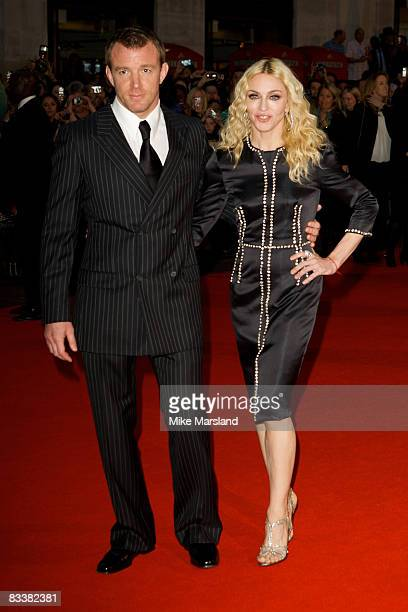 Guy Ritchie and Madonna arrive at the World Premiere of 'RocknRolla' at the Odeon West End on September 1 2008 in London United Kingdom