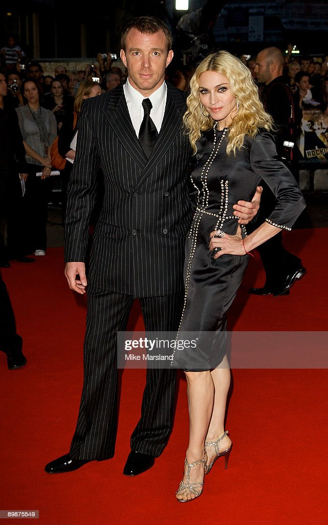 Guy Ritchie and Madonna arrive at the World Premiere of 'RocknRolla' at the Odeon West End on September 1, 2008 in London, United Kingdom.