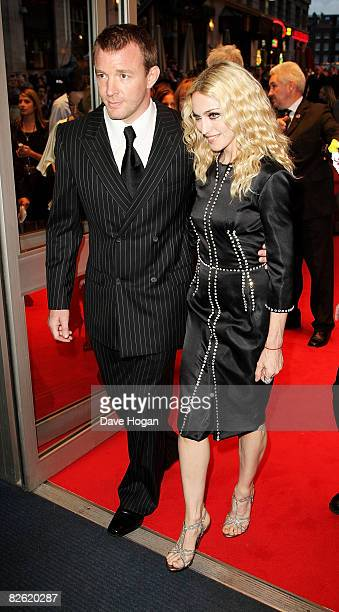 Guy Ritchie and Madonna arrives at the world premiere of 'RocknRolla' at the Odeon cinema Leicester Square on September 1 2008 in London England