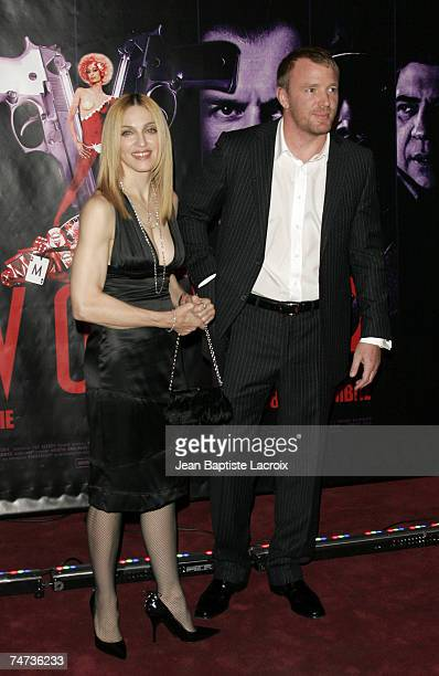Guy Ritchie and Madonna at the Gaumont Marignant in Paris France