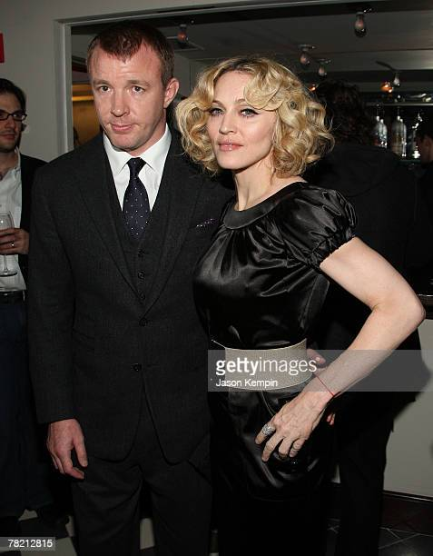 Guy Ritchie and Madonna attend the Cinema Society And Piaget Host Screening Of 'Revolver' After Party at the Gramercy Park Hotel on December 2 2007...