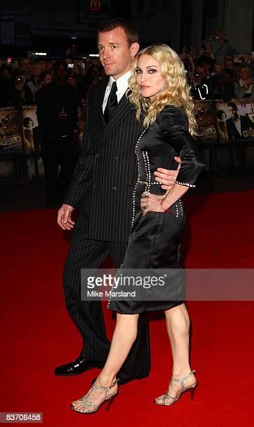 Guy Ritchie and Madonna attend the world premiere of RocknRolla at Odeon West End on September 1 2008 in London England