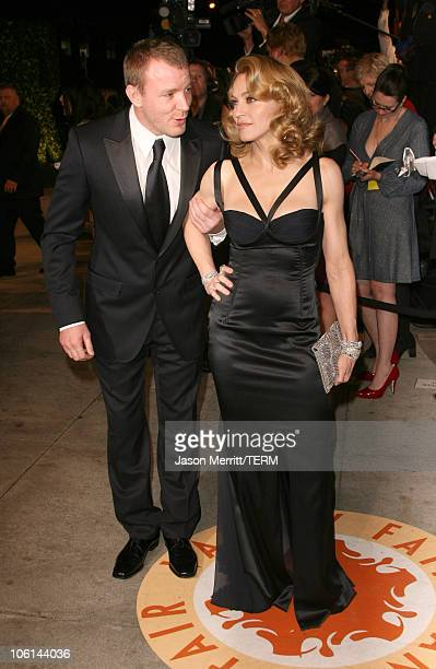 Guy Ritchie and Madonna during 2007 Vanity Fair Oscar Party Hosted by Graydon Carter at Mortons in West Hollywood California United States