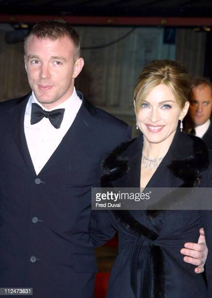 Guy Ritchie and Madonna during 'Die Another Day' Premiere London Arrivals at Royal Albert Hall in London Great Britain