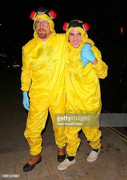Guy Ritchie and Rocco Ritchie attending the UNICEF Halloween Ball on October 30 2014 in London England