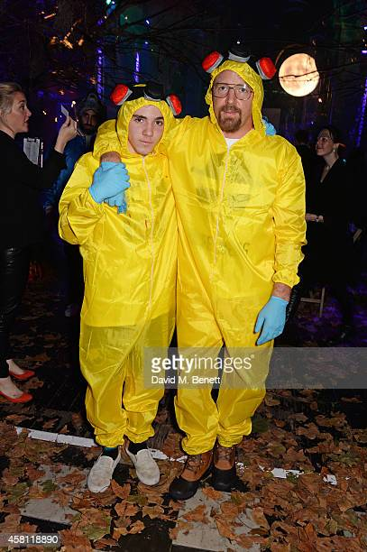 Guy Ritchie and son Rocco Ritchie attend the Unicef UK Halloween Ball raising vital funds to help protect Syria's children from danger at One Mayfair...
