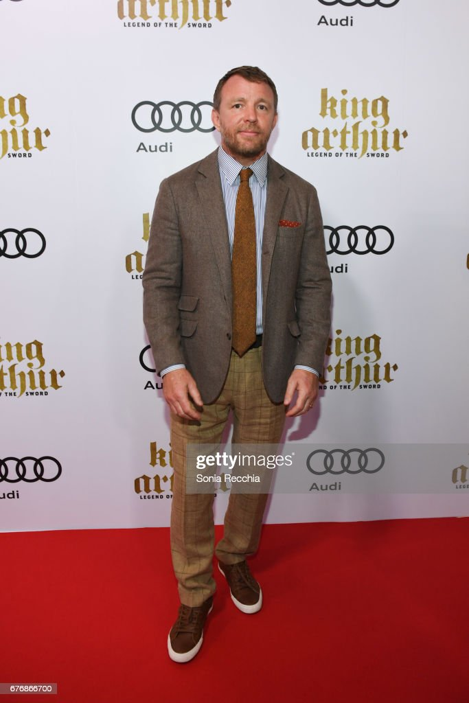 Guy Ritchie arrives at the Scotiabank Theatre for the Canadian Red Carpet Screening screening of King Arthur Legend of the Sword, presented by Audi.