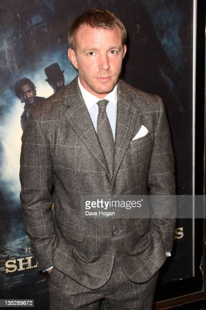 Guy Ritchie attends the European premiere of Sherlock Holmes A Game Of Shadows at The Empire Leicester Square on December 8 2011 in London United...