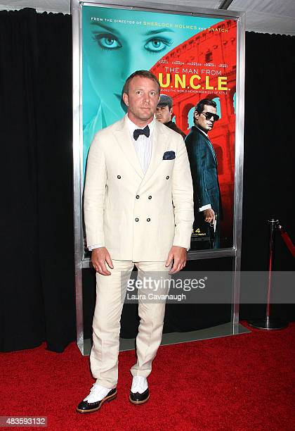 Guy Ritchie attends 'The Man From UNCLE' New York Premiere Inside Arrivals at Ziegfeld Theater on August 10 2015 in New York City