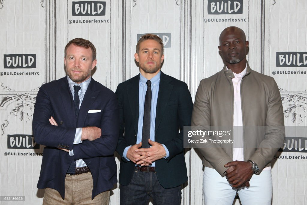 Guy Ritchie, Charlie Hunnam and Djimon Hounsou attend Build Series to discuss their new film 'King Arthur: Legend Of The Sword' at Build Studio on May 1, 2017 in New York City.