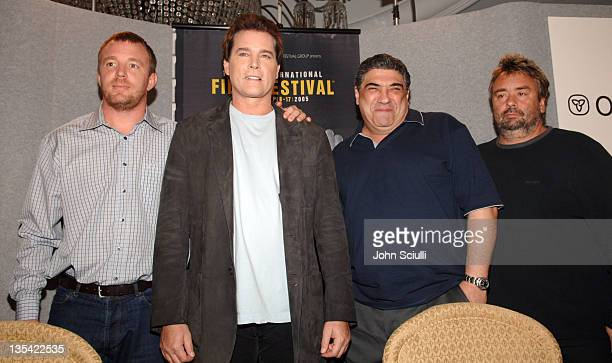 Guy Ritchie director Ray Liotta Vincent Pastore and Luc Besson producer