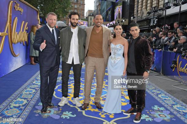 Guy Ritchie Marwan Kenzari Will Smith Naomi Scott and Mena Massoud attend the European Gala screening of Aladdin at Odeon Luxe Leicester Square on...