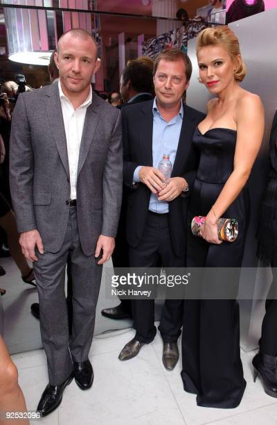 Guy Ritchie Matthew Freud and Diana Jenkins attend launch party hosted by Jimmy Choo Tamara Mellon and Diana Jenkins to celebrate the global launch...