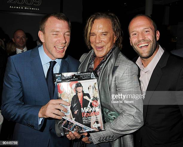 Guy Ritchie Mickey Rourke and Jason Statham attend the 2009 GQ Men Of The Year Awards at The Royal Opera House on September 8 2009 n London England