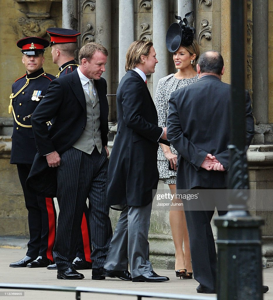 Guy Ritchie (L)with Arthur Landon (C)and Isabella Anstruther-Gough-Calthorpe arrive to attend the Royal Wedding of Prince William to Catherine Middleton at Westminster Abbey on April 29, 2011 in London, England. The marriage of the second in line to the British throne is to be led by the Archbishop of Canterbury and will be attended by 1900 guests, including foreign Royal family members and heads of state. Thousands of well-wishers from around the world have also flocked to London to witness the spectacle and pageantry of the Royal Wedding.
