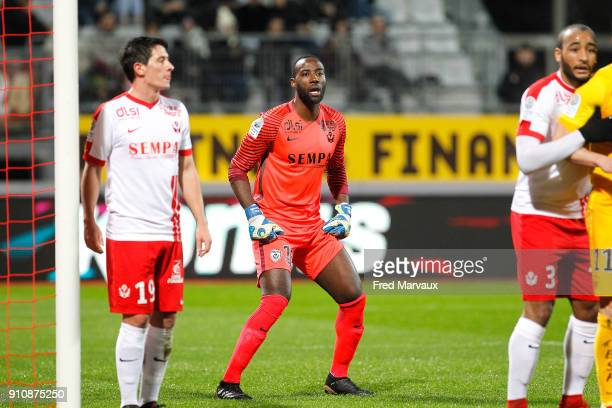 Guy Roland Ndy Assembe of Nancy during the Ligue 2 match between Nancy and Brest on January 26 2018 in Nancy France