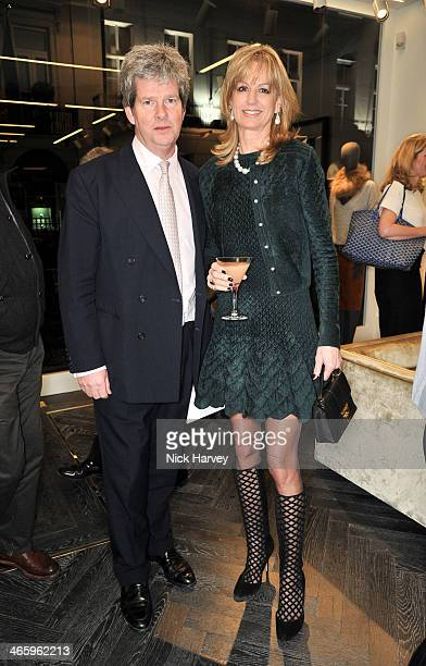 Guy Sangster and Fiona Sangster attend the opening of the new Amanda Wakeley store on January 30 2014 in London England