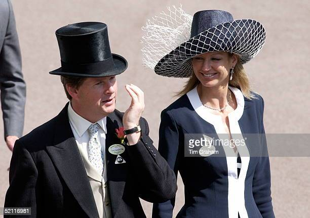 Guy Sangster And His Wife Fiona Attending The Second Day Of Royal Ascot Races The Society Event Of The Year