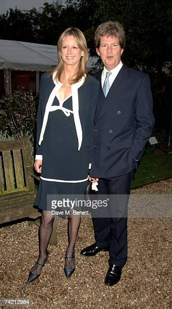 Guy Sangster and wife Fiona attend private dinner hosted by Cartier at the Chelsea Physic Garden on May 21 2007 in London England