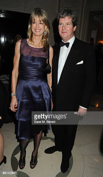 Guy Sangster and wife Fiona attend the Cartier Racing Awards at Claridges on November 17 2009 in London England