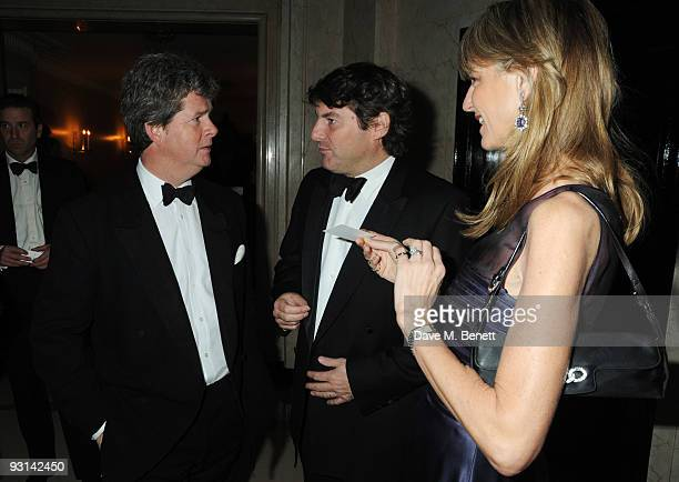 Guy Sangster and wife Fiona with Charlie Brooks attend the Cartier Racing Awards at Claridges on November 17 2009 in London England